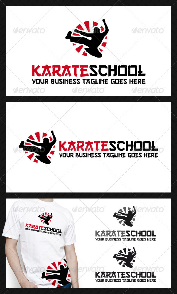 Karate School Logo Template - Humans Logo Templates