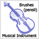 Brushes Musical Instruments (Pencil) - GraphicRiver Item for Sale