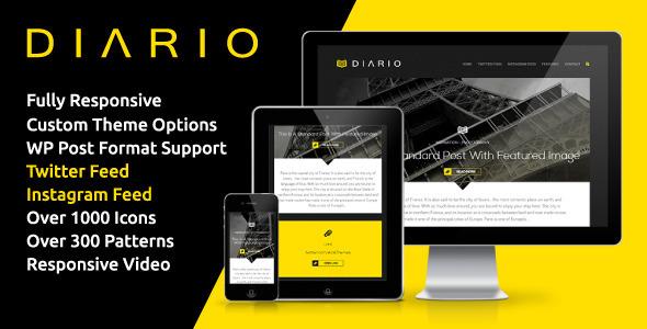 Diario – Bold & Minimal Responsive WordPress Theme