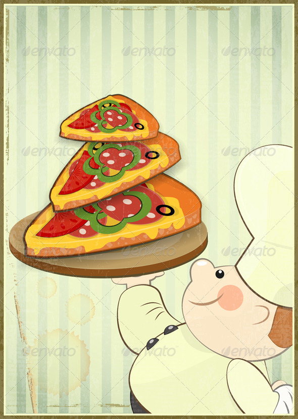 Pizza and Chef - Food Objects