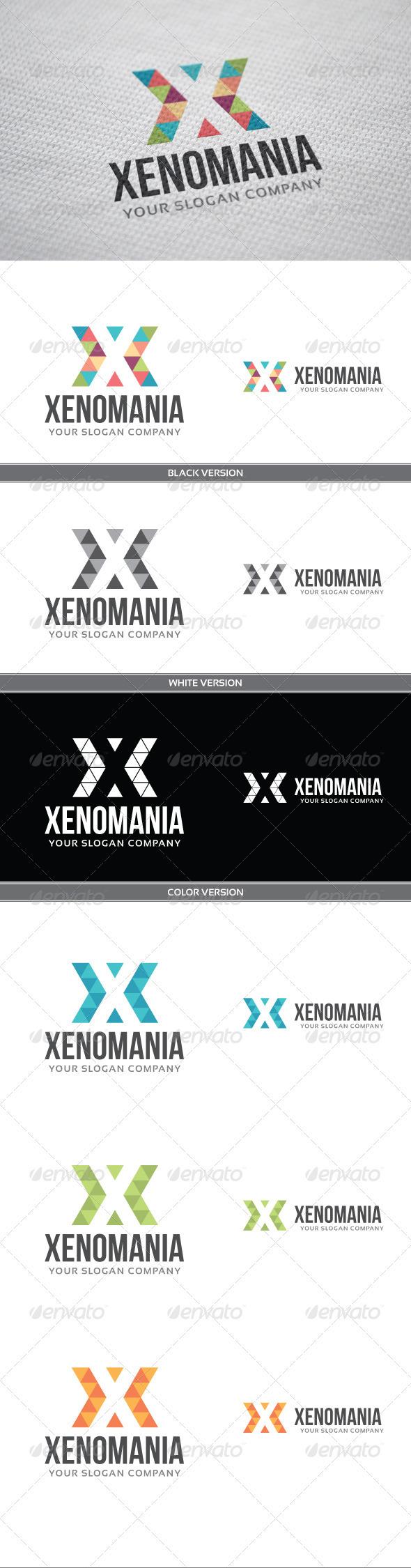 Xenomania Logo - Letters Logo Templates