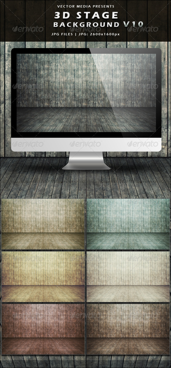3D Stage Background - Vol.10 - 3D Backgrounds
