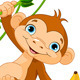 Baby Monkey on a Tree - GraphicRiver Item for Sale