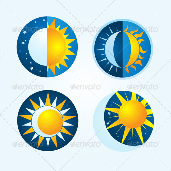 Moon And Sun By Alitsuarnegara Graphicriver