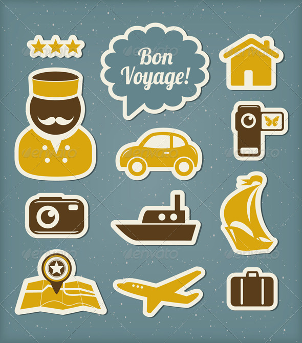Travel And Vacation Icons Set - Travel Conceptual