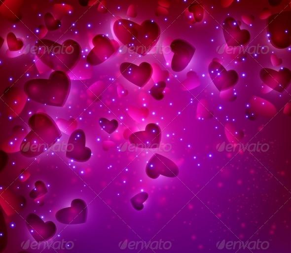 Valentines Hearts background - Valentines Seasons/Holidays
