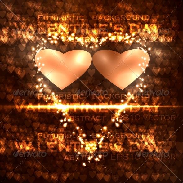 Vector valentines hearts illustration - Valentines Seasons/Holidays