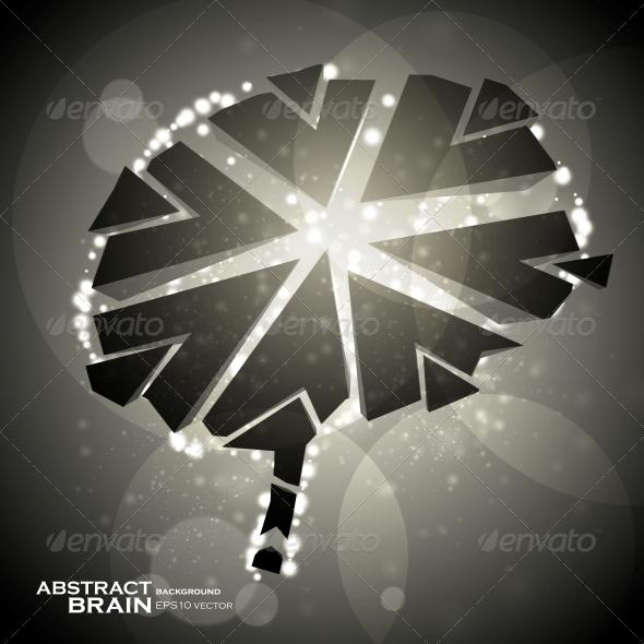 Brain crushing - Health/Medicine Conceptual