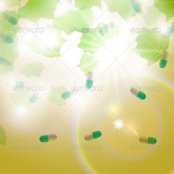 Medical pill capsules  - Health/Medicine Conceptual