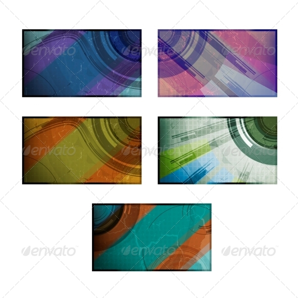 Set for Abstract Vector Background - Abstract Conceptual