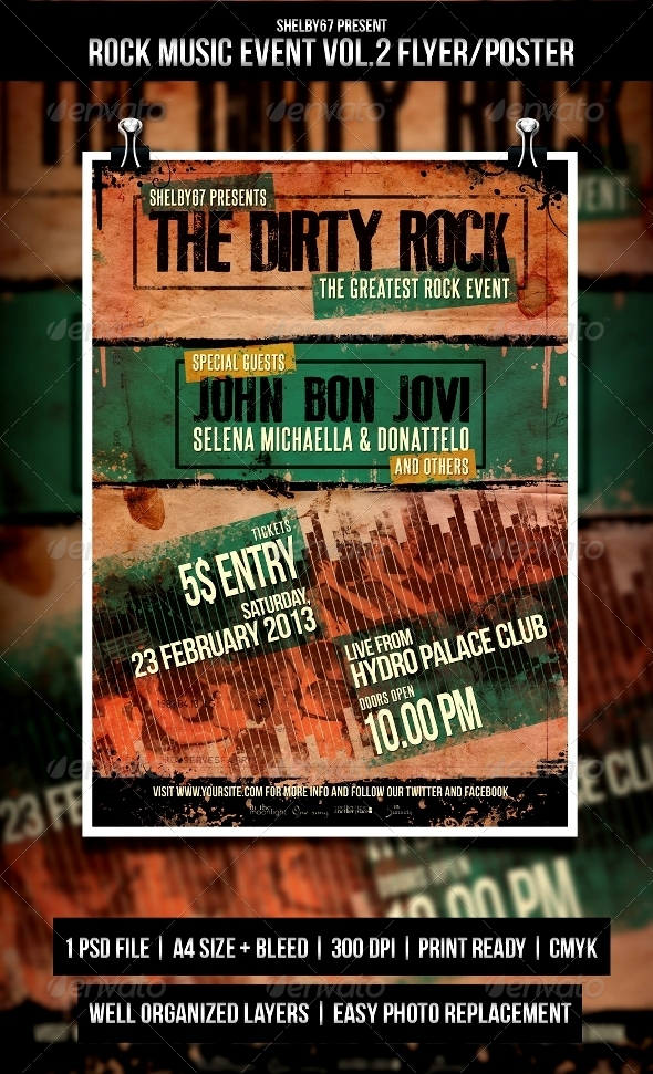 Rock Music Event Flyer / Poster Vol.2 - Events Flyers
