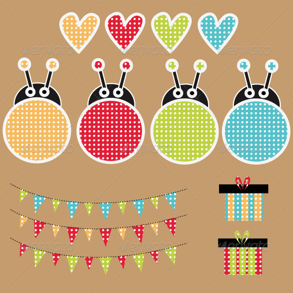Birthday Set - Vectors