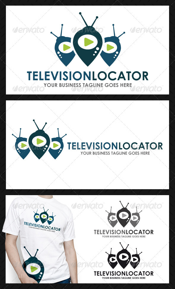 Tv Locator Logo Template - Objects Logo Templates