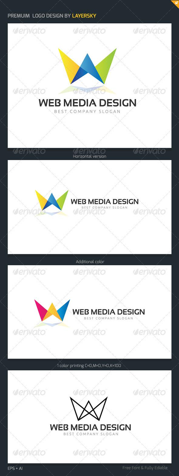Web Media Design Logo - Letters Logo Templates