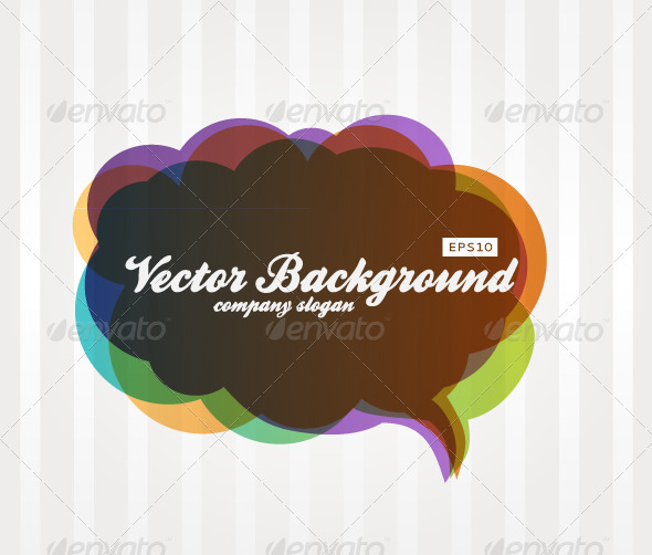 Speech Bubble Background - Backgrounds Decorative