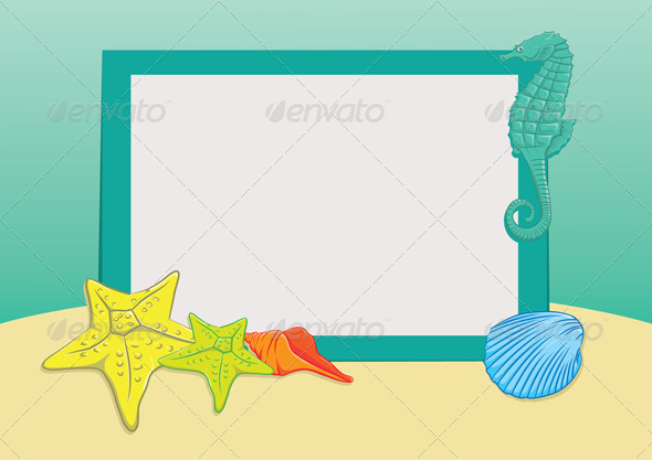 Beach Frame - Backgrounds Decorative