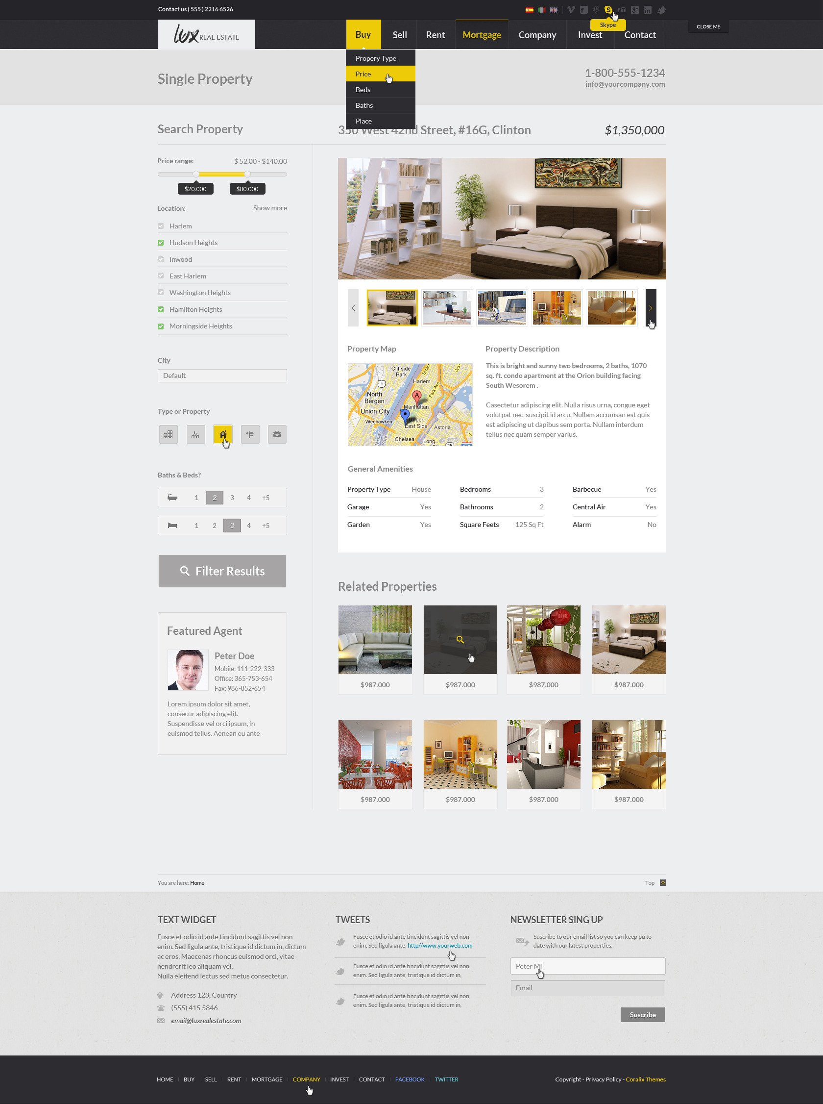 Lux Huge And Unique Real Estate Html By Coralixthemes Themeforest