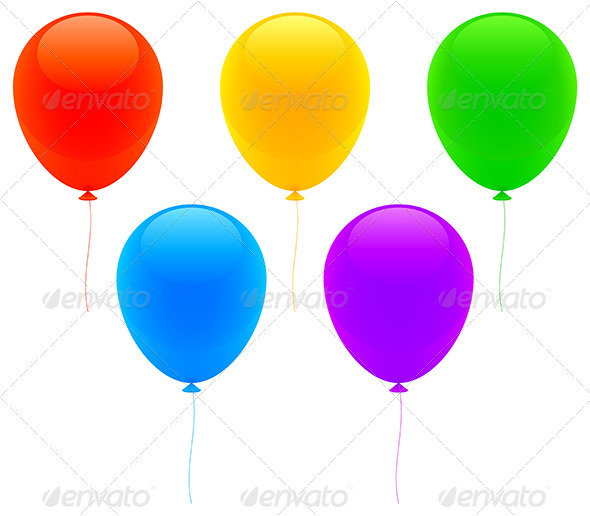 Color Balloons - Seasons/Holidays Conceptual