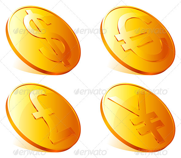 Golden Coins - Business Conceptual