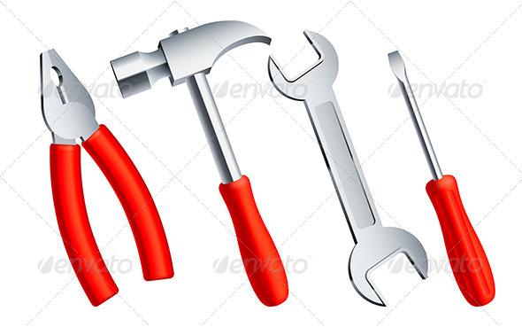 Construction Tools - Objects Vectors