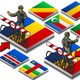 Isometric Frontier Militarily Closed - GraphicRiver Item for Sale