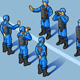 Isometric Set of Military Peacekeepers Standing - GraphicRiver Item for Sale