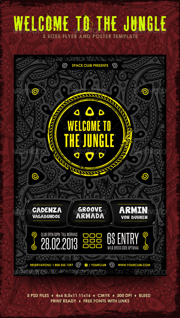Welcome To The Jungle - Clubs & Parties Events