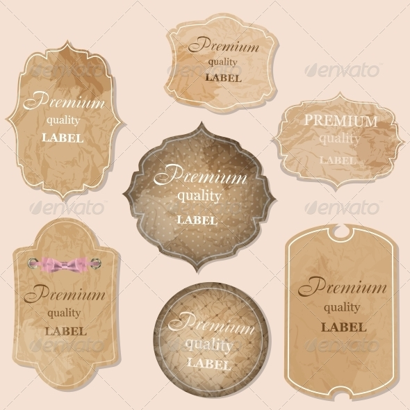 aged paper labels vector illustration - Concepts Business