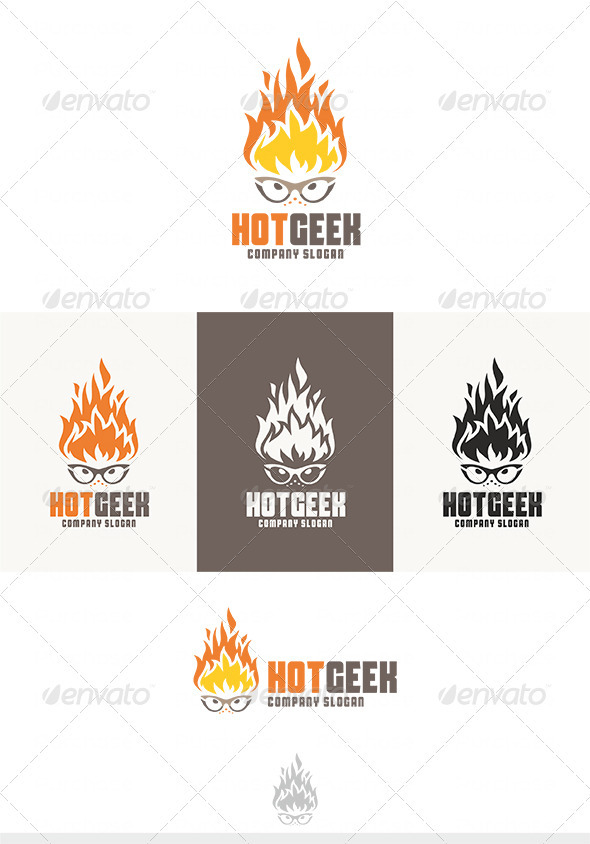 Hot Geek Logo - Humans Logo Templates
