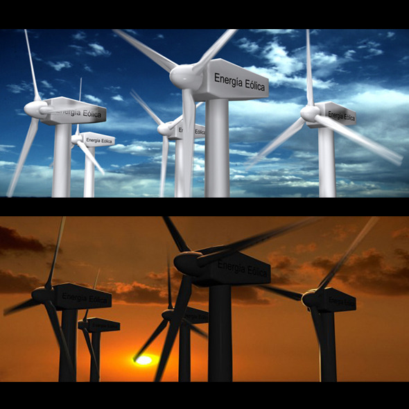 Wind Eolic Turbine - 3DOcean Item for Sale