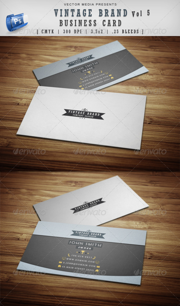Vintage Brand - Business Card [Vol 5] - Retro/Vintage Business Cards