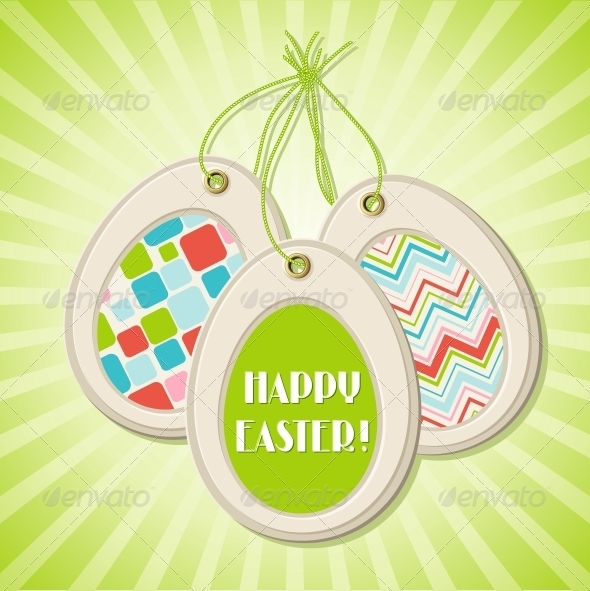 Easter greeting card with easter eggs. - Christmas Seasons/Holidays