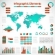 Set elements of infographics red-blue - GraphicRiver Item for Sale