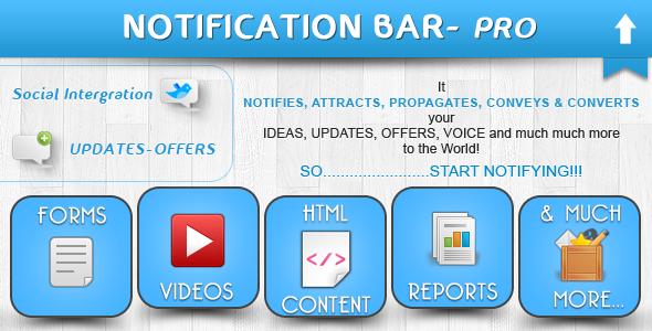 Notification Bar Plugin - CodeCanyon Item for Sale