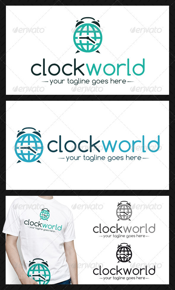 Clock World Logo Template - Objects Logo Templates