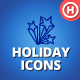 90 Hand-drawn Holiday Icons vol.2 - GraphicRiver Item for Sale
