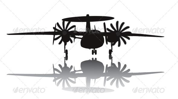 Awacs Aircraft Silhouette - Travel Conceptual