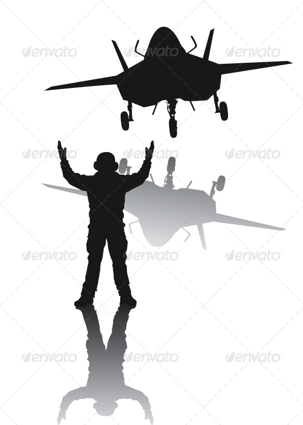 Stealth Aircraft Silhouette - Travel Conceptual
