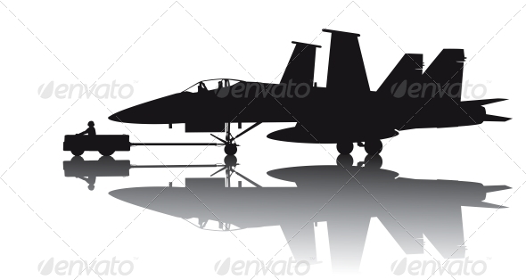 Military Aircraft Silhouette - Travel Conceptual