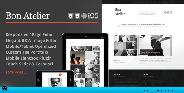Bon Atelier - Responsive One Page HTML5 Template - Corporate Site Templates