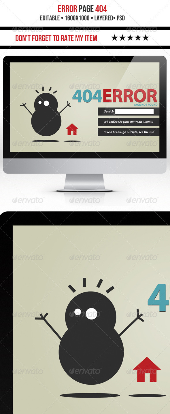 Funny 404 Error - 404 Pages Web Elements
