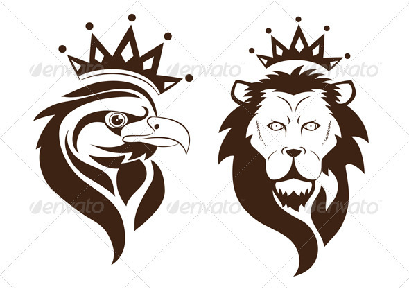 Eagle and Lion - Animals Characters