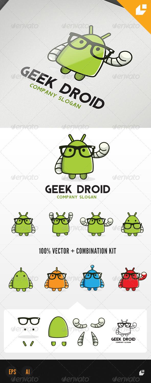 Geek Droid Logo - Humans Logo Templates