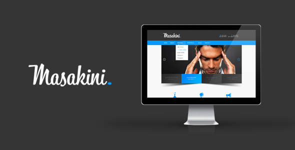 Masakini – Corporate PSD Template