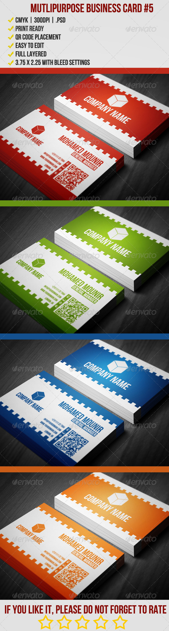 Multipurpose Business Card 5 - Corporate Business Cards