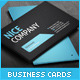Professional Minimal Blue and Black Business Cards - GraphicRiver Item for Sale
