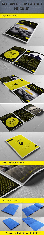 Realistic A5 Brochure Mockup Template - Brochures Print