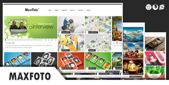 MaxFoto - Clean Gallery HTML5 Template - Business Corporate