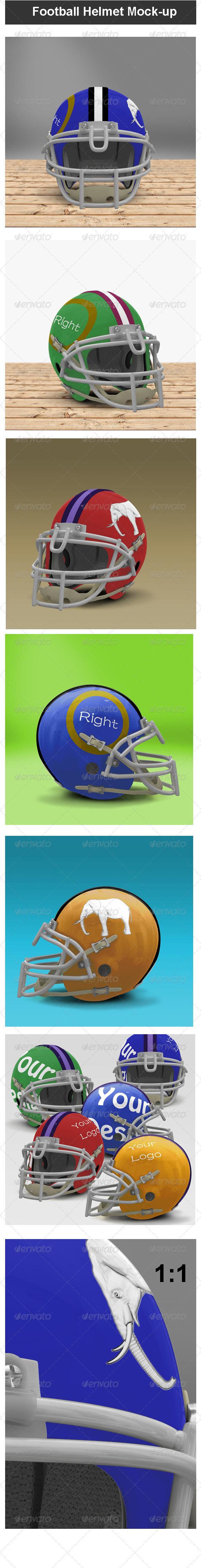 Football Helmet Mock-up - Miscellaneous Apparel