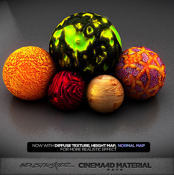 Cinema 4d Material pack V2 - 3DOcean Item for Sale
